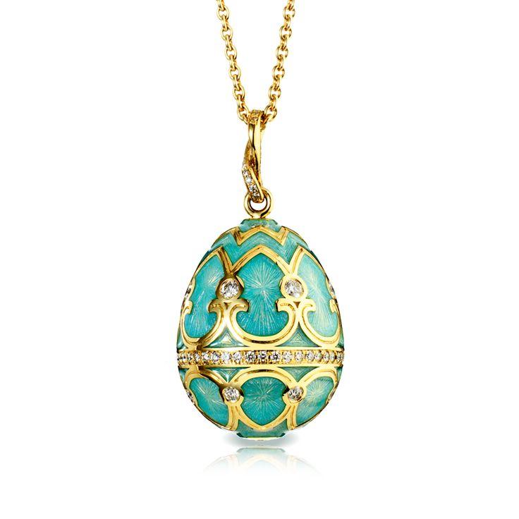 Oeuf Tsarskoye Selo Empereur Bleu du Nil  FABERGÉ Egg Pendant  FABERGÉ.com