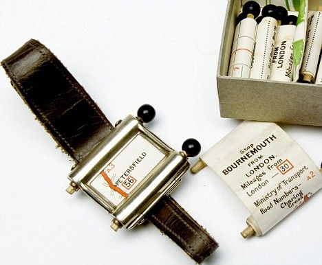 It was the invention of the future - a tiny machine complete with its own map that would tell motorists which way to go.    But this was no satnav - after all, the communications satellites that help modern cars locate themselves were still decades away.    Instead, the route-finder for the well-equipped 1920s driver was a wristwatch-style device equipped with minuscule maps.