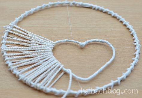 halbachblog I DIY I Traumfänger basteln mit Herz-Öffnung I Step-by-Step-Anleitung (Cool Crafts)