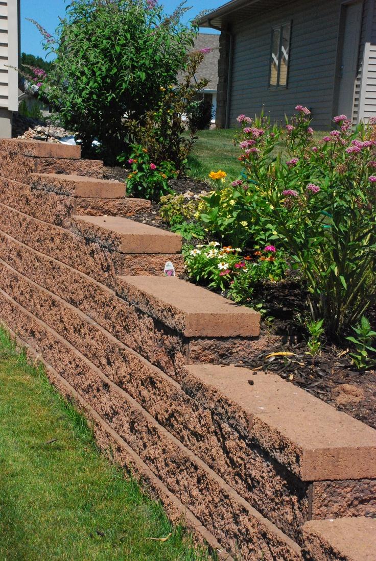 7 best retaining wall images on pinterest backyard ideas garden
