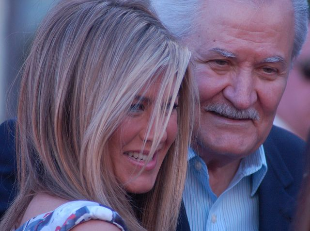 Jennifer Aniston with her father, John Aniston