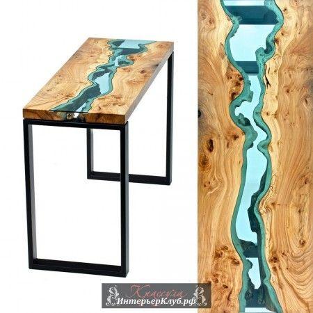 Уникальные деревянные столы со стеклянными реками и озерами от дизайнера Грега Классена. Уникальная деревянная мебель, деревянная мебель ручной работы, дизайнер мебели