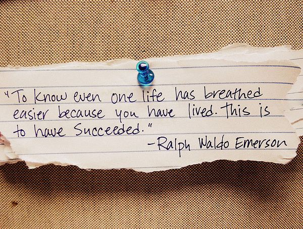 Emerson on success