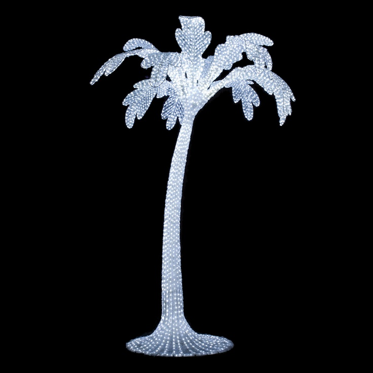 34 best palm tree images on pinterest palm trees palms and 10 x 78 outdoor white palm 5500 led white lights mozeypictures Gallery