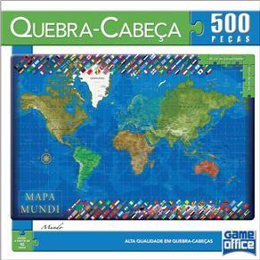 Quebra-Cabeça Toyster 1632 Mapa Mundi c/ 500 Peças