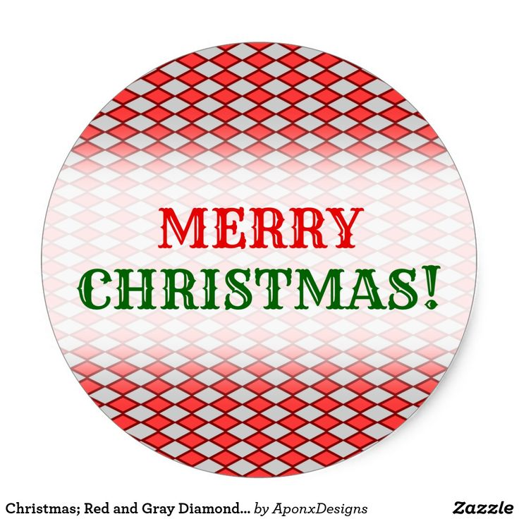 Christmas; Red and Gray Diamond Shape Pattern