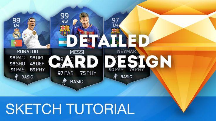 Sketch 3 Tutorial • Detailed Card Design • Sketchapp Tutorial & Design W...