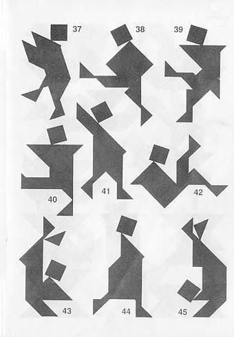 Figuras Tangram con soluciones 3b