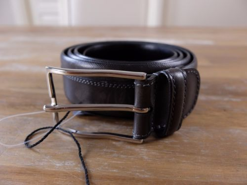 auth BARRETT Italy gray leather belt - Size 100 (fits size 38 waist best) - NWOT