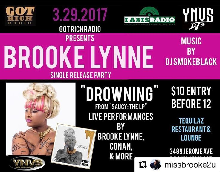 Tequilaz Restaurant Lounge #TequilazBx #Repost @missbrooke2u  This Wednesday I need everyone to pull up to @tequilazbx || @GotRichRadio presents the celebration of my new single #Drowning (Prod. by @Tedholla @ItsYaBoyJudah @VictorMack ) now available on @iTunes  #YNVS @shampoo_ynvs @empiredistribution || Music by @djSmokeblack || For more info contact me @rosemedallionz or @conan42fly  #SupportYourArtist #NewMusic #SingleRelease #MB2U #ynvsdjs #iaxisradio #gotrichradio #internetradio…