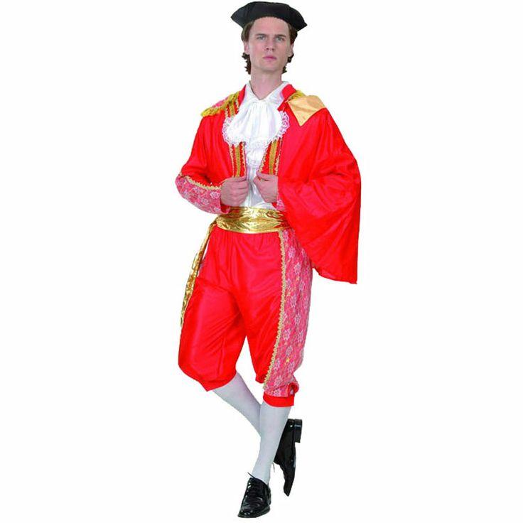 Completísimo disfraz de torero para acompañar al disfraz de flamenca o sevillana en cualquier fiesta de disfraces. Incluye: chaqueta, capote, sombrero, chaleco, pantalón y cinturón. Ideal para carnaval, capeas y despedidas de soltero. #disfraces #feriadeabril