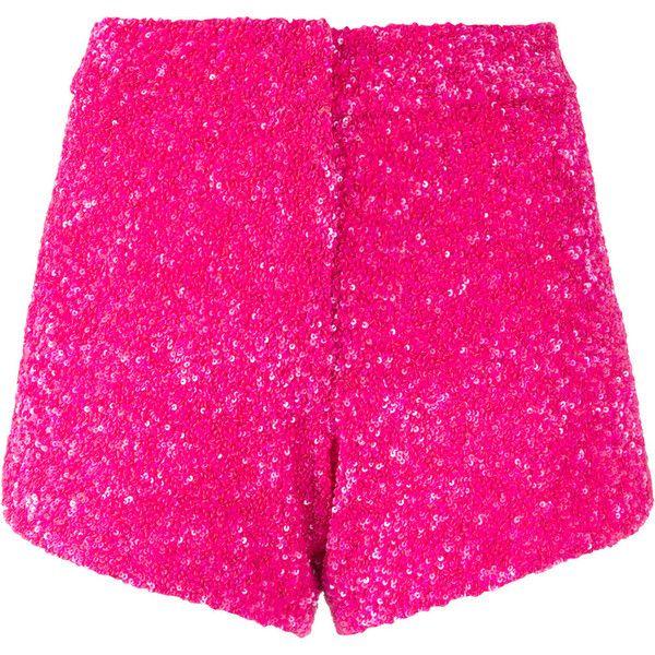 Manish Arora sequinned shorts ($838) ❤ liked on Polyvore featuring shorts, sequin shorts and manish arora