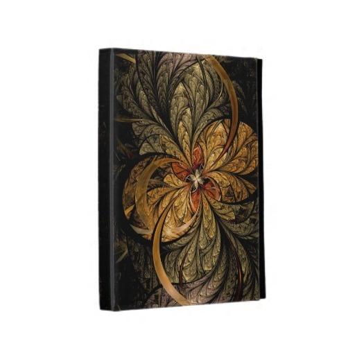 Shining Leaves Fractal Art iPad Folio Case $62.20