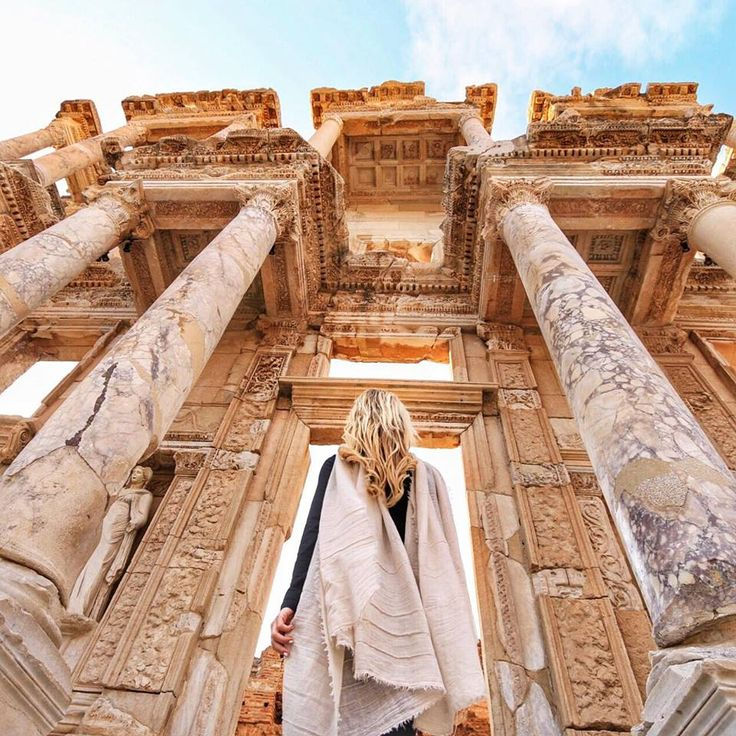 walk among the ruins of Ephesus in Izmir, Turkey.