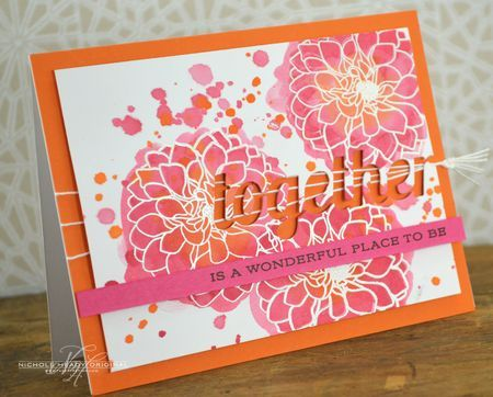Wonderful Place Card by Nichole Heady for Papertrey Ink (July 2013)