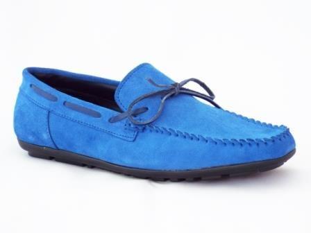 Pantofi barbati albastri din piele intoarsa sport la pretul de 139 RON. Comanda Pantofi barbati albastri din piele intoarsa sport de la Biashoes!