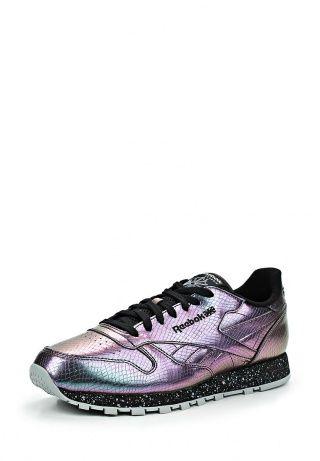 Мужские кроссовки Reebok Classics. Обувь выполнена из фактурной искусственной кожи. Детали: подкладка и стелька из текстиля, рельефная подошва, плотная шнуровка. http://j.mp/1nlCbzE