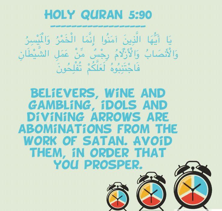 Quranic verse on gambling sands casino las vegas nv