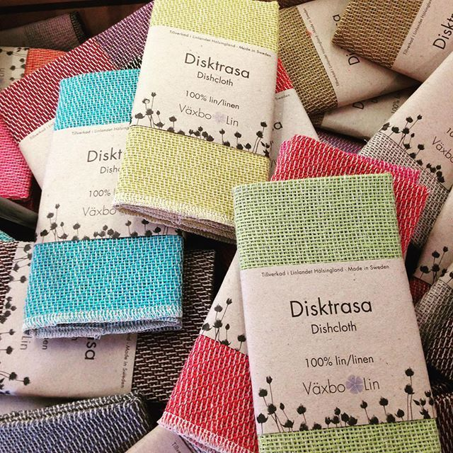 Linen dishcloth from Vaxbo Lin.