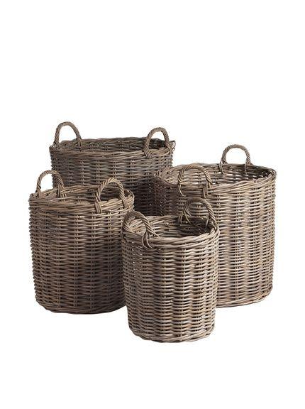 Napa Home Garden Set Of 4 Normandy Round Baskets, Http://www.