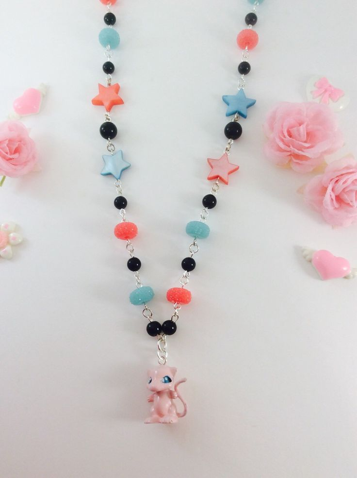 A personal favorite from my Etsy shop https://www.etsy.com/listing/253101685/adorable-mew-pokemon-jewelry-necklace
