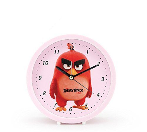 Foxtop 5 Inch Deco-Custom Cute Angry Birds Movie Star Silent Alarm Clock Round Table Clocks Top Gift for Kids (Red)  #Alarm #Angry #Birds #Clock #clocks #cute #DecoCustom #Foxtop #Gift #Inch #Kid's #Movie #Round #RusticGrandfatherClock #Silent #star #Table The Rustic Clock