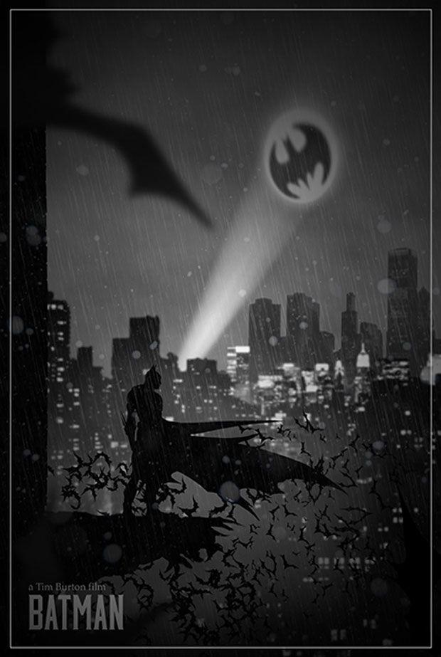 affiches de films Batman inspirées par le jeu vidéo Limbo
