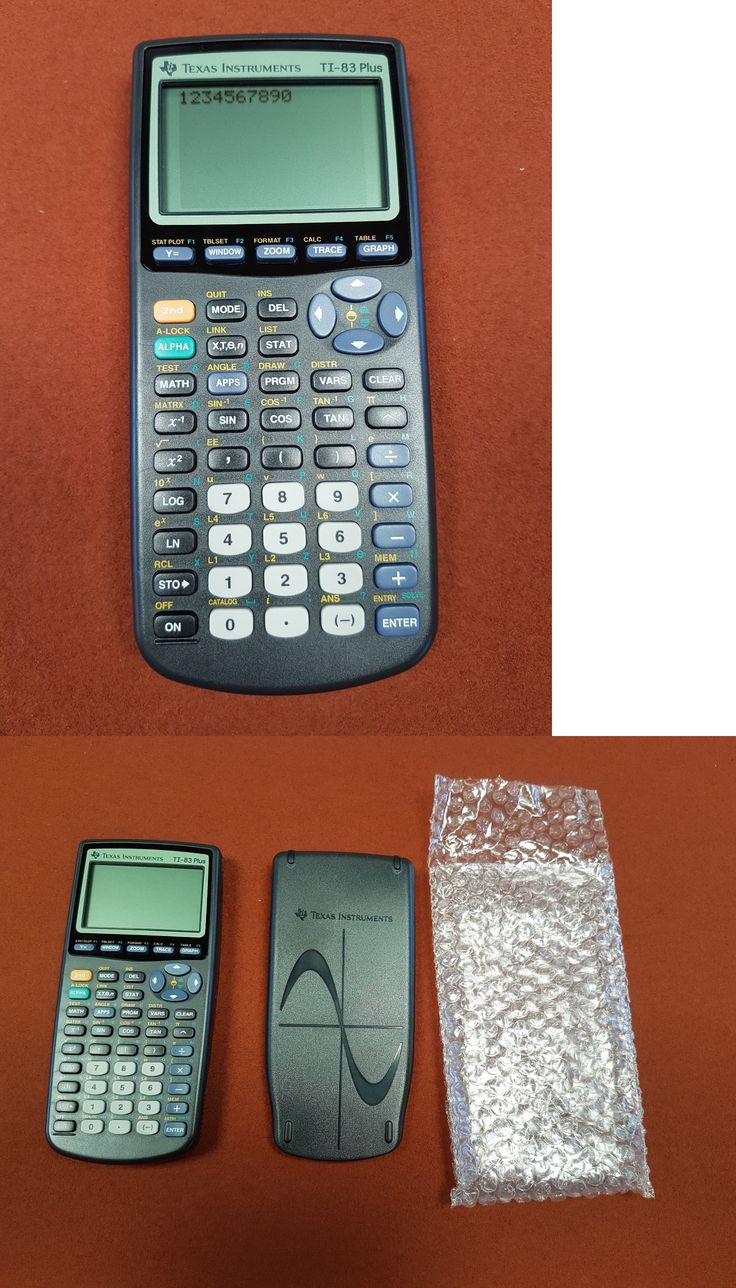 Calculators Texas Instruments Ti 83 Plus Graphing Calculator Brand New  Download Image How To Calculate Standard
