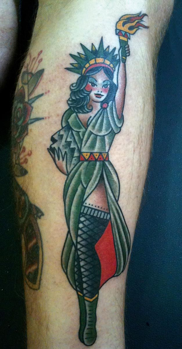 pinup statue of liberty