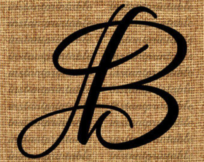 Monogram Initial Letter B Letter Clip Art Letter Decal Download Letters Letter Download Printabl Letter C Tattoo Tattoo Lettering Tattoo Lettering Fonts