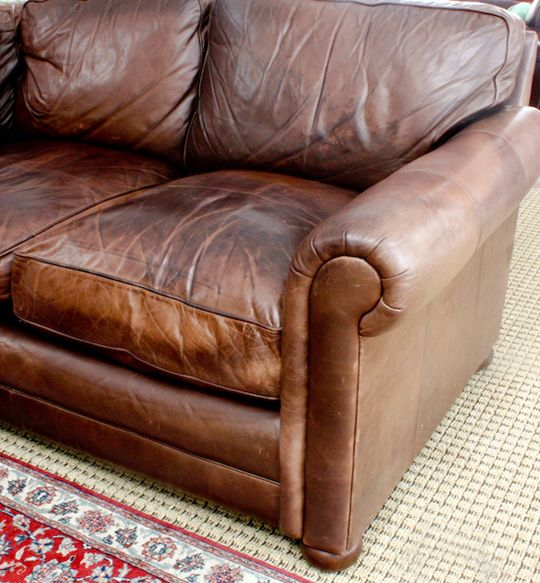 A Leather Sofa Doesn T Come These Days And Whether You One New Or Secondhand Somewhere Down The Line Are Going To Have Flat Cushions