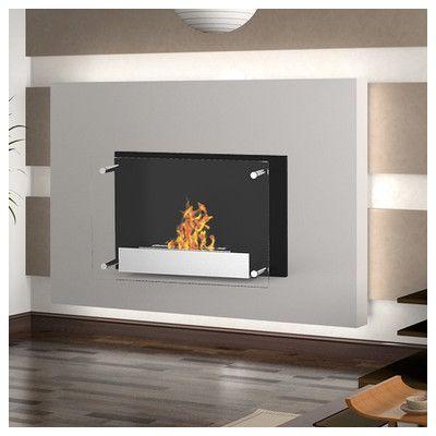 Elite Flame Milan Ventless Wall Mount Ethanol Fireplace