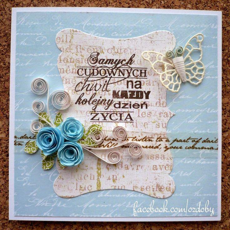 Kwadratowa z niebieskimi różami