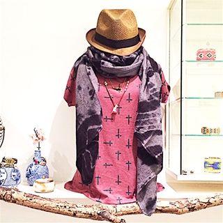 Sjaal tiedye print € 16,50