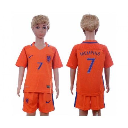 Nederländerna Fotbollskläder Barn 2016 #Memphis Depay 7 Hemmatröja Kortärmad,248,15KR,shirtshopservice@gmail.com