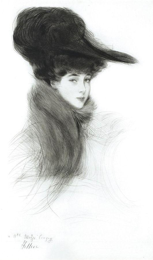 Французский художник Paul Cesar Helleu (1859 – 1927)
