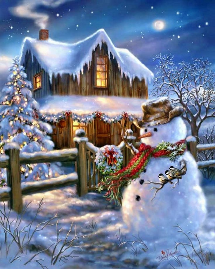 Dona Gellsinger Art - Snowman