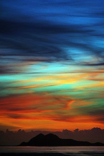 """Isla Negra Sunset   Most Beautiful Pages    This all """"just"""" evolved?   An Almighty Creator paints the heavens.  A fool says in his heart there is no God."""