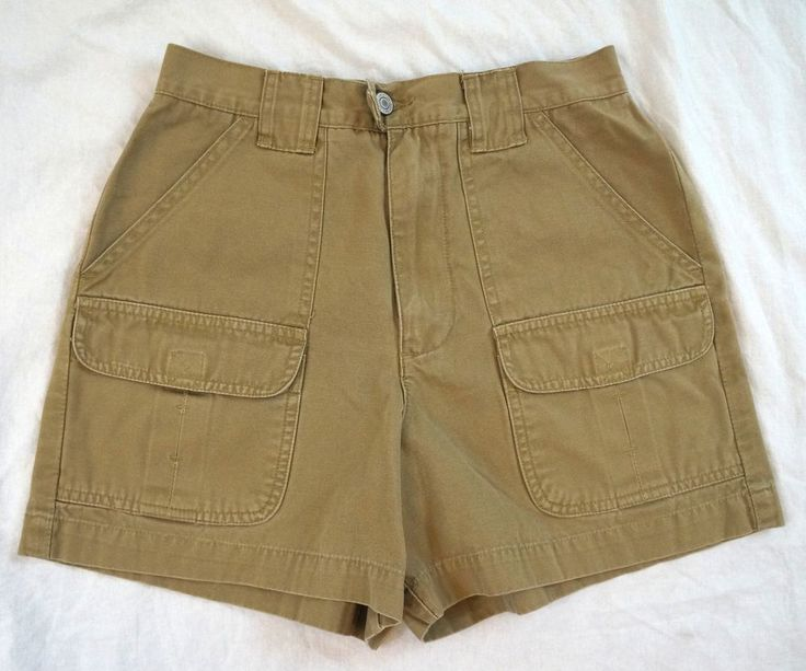 American Eagle Cargo Khaki Womens Brown Shorts Size 4 (Q20#1320) #AmericanEagleOutfitters #Cargo