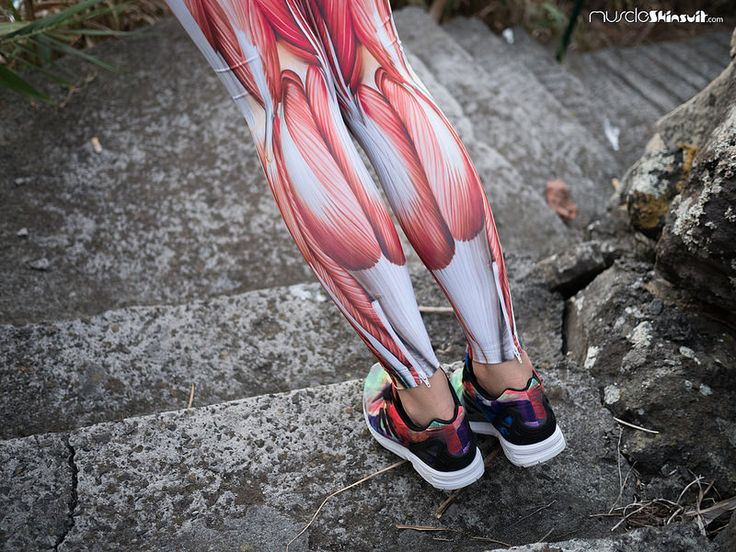 Muscle print women running tights by muscleskinsuit.com