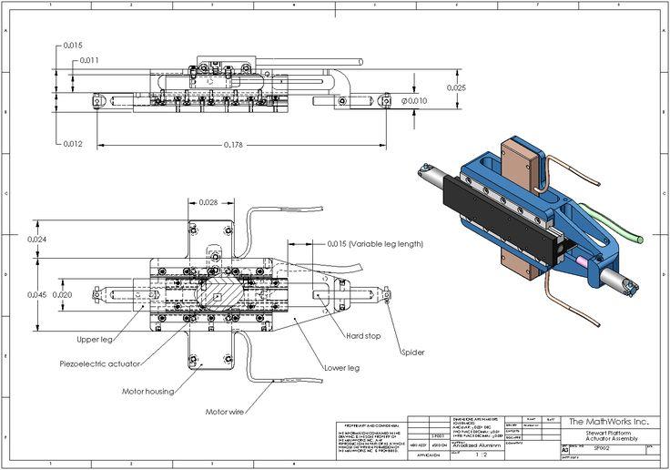 Mechanical Engineering Drawings Mechanical Drawing Of