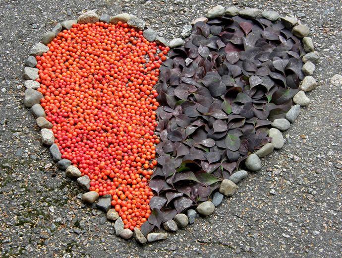 Maataidetta, sydän