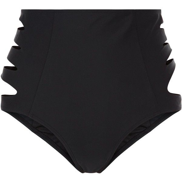 New Look Black Cut Out Side High Waisted Bikini Bottoms (66 BRL) ❤ liked on Polyvore featuring swimwear, bikinis, bikini bottoms, black, high-waisted swimwear, swim bikini bottoms, cutout bikini bottom, high-waisted bikini and high waisted two piece