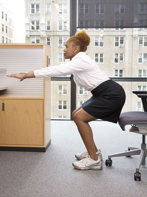 Avoiding exercise during your workday because it's time-consuming? No more excuses! With the 25-minute office workout, you won't even have to change your clothes or shower.