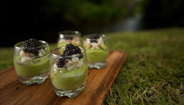 Scallops & Sturgeon with Caviar http://gustotv.com/recipes/lunch/scallops-sturgeon-with-caviar/