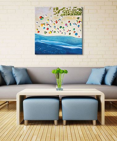Loving this Antony Squizzato Malaga Beach Wrapped Canvas on #zulily! #zulilyfinds