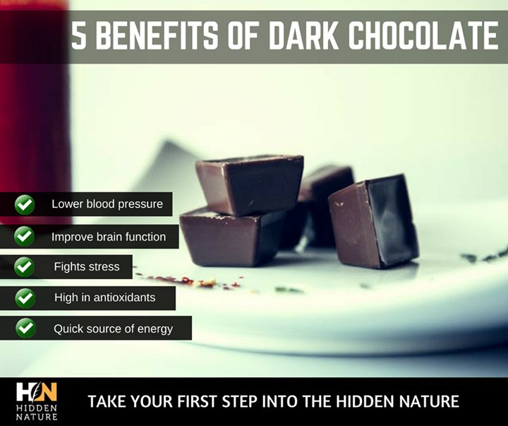 Dark chocolate is loaded with nutrients that can positively affect your health. Made from the seed of the cocoa tree, it is one of the best sources of antioxidants on the planet. Studies show that dark chocolate (not the sugary crap) can improve health and lower the risk of heart disease.