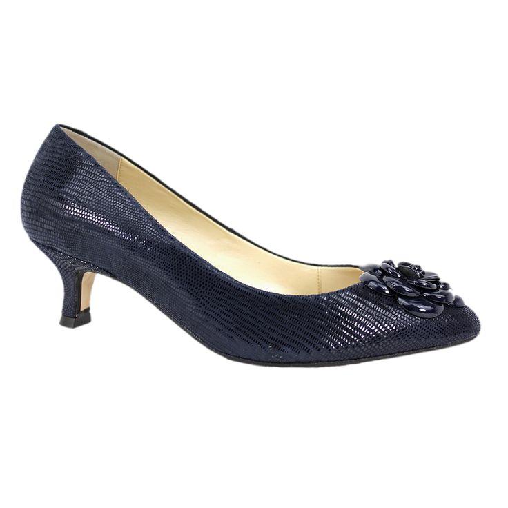 ... Navy kitten heel shoes Photo - 5