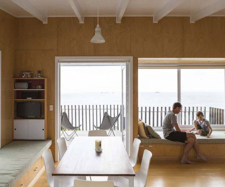 Rakino Island Bach by Malcolm Walker | simple colour, material + construction but nicely thought out