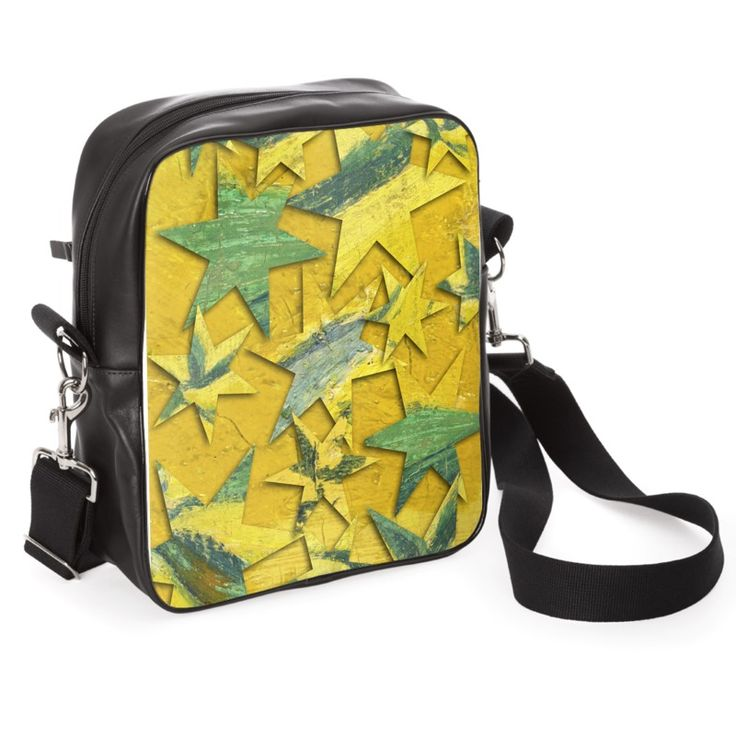 """""""Gauguin/Stars""""  -  Size 30cm x 26cm x 10cm Three pockets with zip closure Lined interior in suede fabric Removable shoulder strap with quick hooks."""